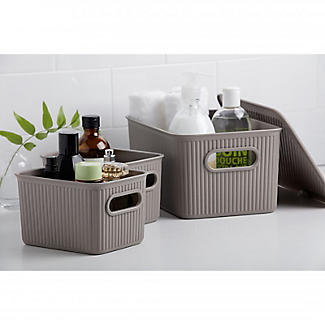 Tatay Baobab Home Storage Basket Anthracite Grey 5L alt image 3