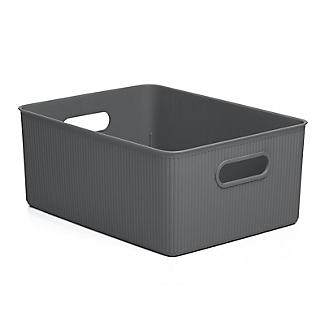 Tatay Baobab Home Storage Basket Anthracite Grey 15L