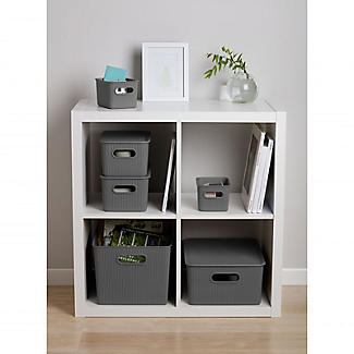 Tatay Baobab Home Storage Basket Anthracite Grey 15L alt image 4