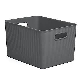 Tatay Baobab Home Storage Basket Anthracite Grey 22L