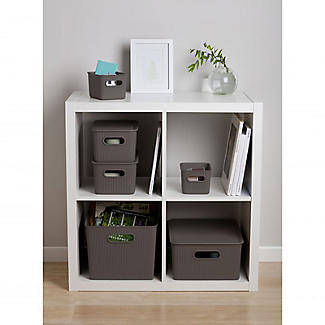 Tatay Baobab Home Storage Basket Anthracite Grey 22L alt image 3