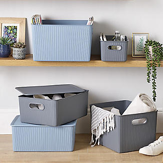 Tatay Baobab Home Storage Basket Anthracite Grey 22L alt image 5