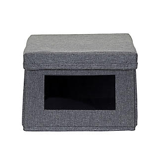 Foldable Grey Shoe Storage Box with Viewing Window alt image 10