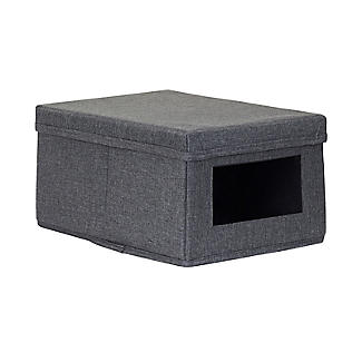 Foldable Grey Shoe Storage Box with Viewing Window alt image 5