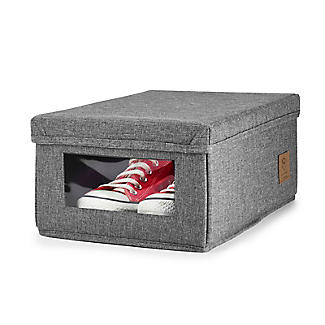 Foldable Grey Shoe Storage Box with Viewing Window alt image 8