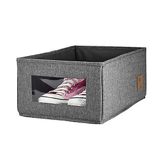 Foldable Grey Shoe Storage Box with Viewing Window alt image 9