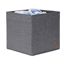 Square Foldable Storage Tote Grey