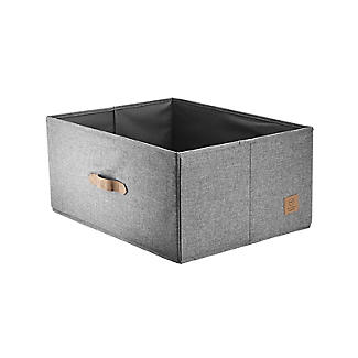 Foldable Grey Storage Box with Lid – Large alt image 5