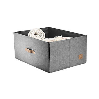Foldable Grey Storage Box with Lid – Large alt image 6