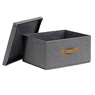 Foldable Grey Storage Box with Lid – Large alt image 7