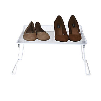 Xtend Stackable Square Folding Shelf Shoe Rack