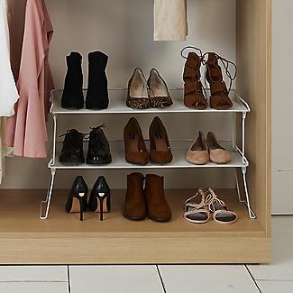 Xtend Stackable Rectangular Folding Shelf Shoe Rack alt image 2