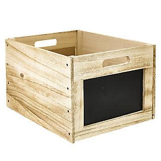 Vintage-Look Wooden Chalkboard Crate