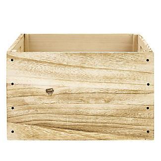 Vintage-Look Wooden Chalkboard Crate alt image 3
