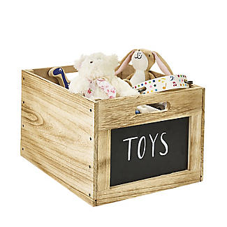 Vintage-Look Wooden Chalkboard Crate alt image 5