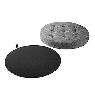 Foldable Round  Storage Ottoman Grey 50L alt image 5