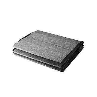 Foldable Round  Storage Ottoman Grey 50L alt image 8