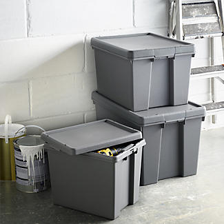Wham Bam Upcycled Super Strong Storage Box with Lid – 62L alt image 2