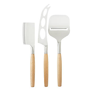 Taylor's Eye Witness 3-Piece Beech-Handled Cheese Knife Set