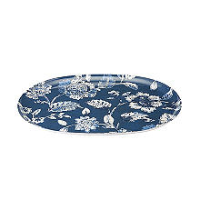 Summer Blooms Melamine Oval Serving Platter