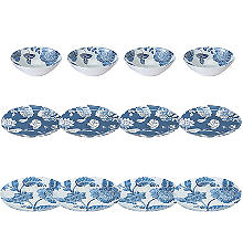 Summer Blooms Melamine 12-Piece Dinner Set