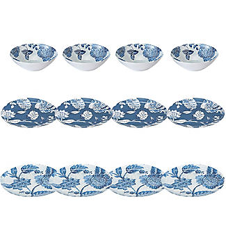 Summer Blooms Melamine 12-Piece Dinner Set alt image 1