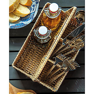 Rustic Woven Cutlery Caddy alt image 2