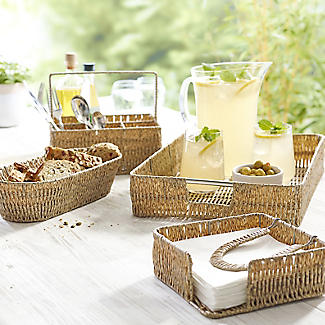 Rustic Woven Serving Tray alt image 3