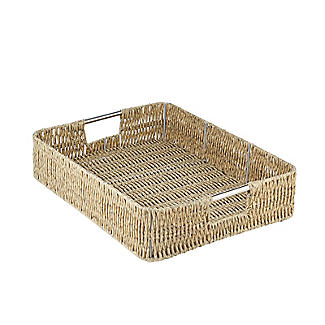 Rustic Woven Serving Tray alt image 5