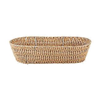 Rustic Woven Oval Basket alt image 3