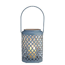 Summer Blue Hurricane Garden Lantern Lamp