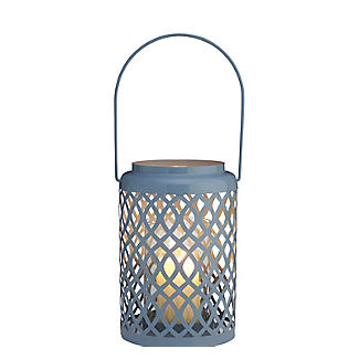 Summer Blues Hurricane Lamp