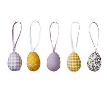 Talking Tables Decorative Fabric-Covered Eggs – Pack of 5