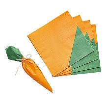 16 Carrot Paper Napkins