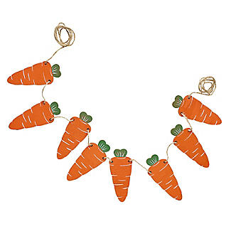 Ginger Ray Wooden Carrot Bunting 1.2m