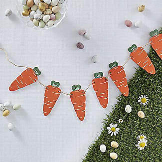 Ginger Ray Wooden Carrot Bunting 1.2m alt image 2