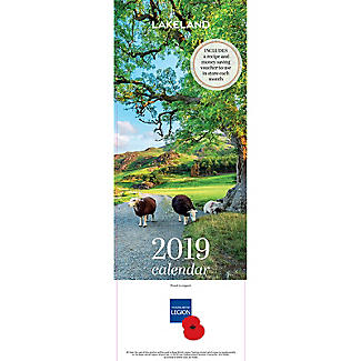 Lakeland 2019 Calendar with Recipes and Charity Donation