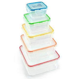 Lock & Lock 5-Piece Nestable Container Set - Square