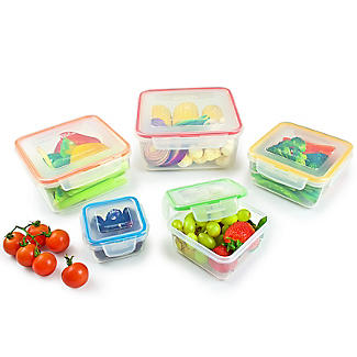 Lock & Lock 5-Piece Nestable Container Set - Square alt image 4