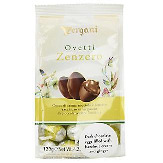 Vergani Dark Chocolate Eggs with Hazelnut and Ginger Cream 120g alt image 2