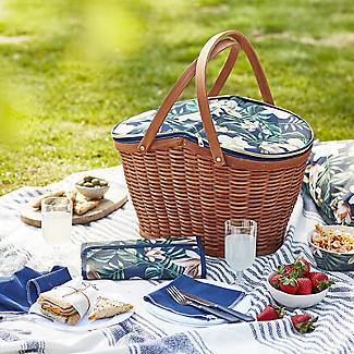 Summerhouse Java 4-Person  Picnic Basket Cooler alt image 2