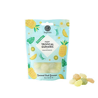 SugarSin Fizzy Tropical Gourmet Fruit Gummies Pouch 80g alt image 3