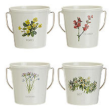 Lakeland Floral Egg Cup Buckets – Set of 4