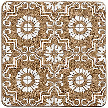 Ladelle Fiesta Tile Square Cork Trivet – White