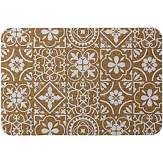 4 Ladelle Morocco Tile Rectangular Table Mats – White