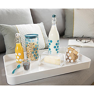 Zak Designs Large Gallery Serving Tray – White  alt image 3