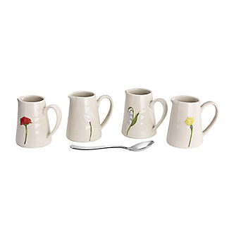Lakeland Small Floral Ceramic Milk Jugs – Set of 4 alt image 2