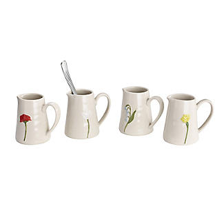 Lakeland Small Floral Ceramic Milk Jugs – Set of 4 alt image 3