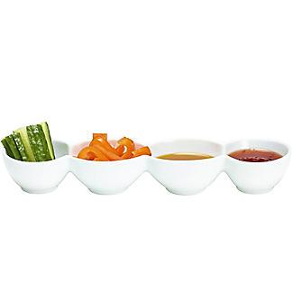 Lakeland White Porcelain 4-Cavity Serving Dish alt image 2