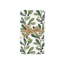Walton & Co. Printed Mistletoe Napkins 45 x 45cm – Pack of 4